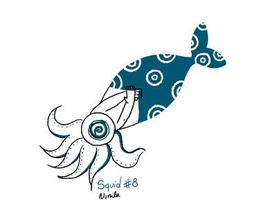 Squid squid mermay wacom photoshop illustration