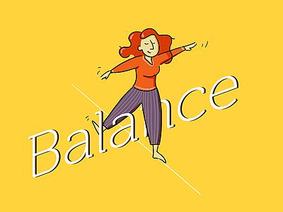 Balance zen type balance drawing wacom illustrator photoshop illustration