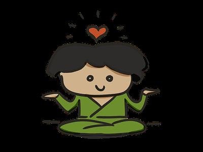 zen love yoga meditate kawai zen cute drawing illustrator illustration
