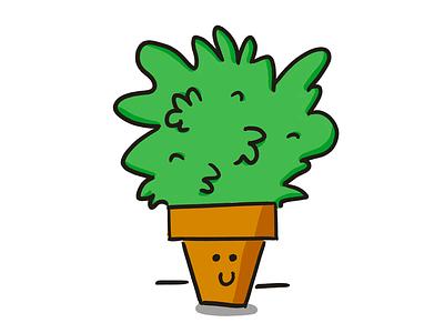 plant kawai smile cute leaf green nature plant drawing wacom illustrator photoshop illustration