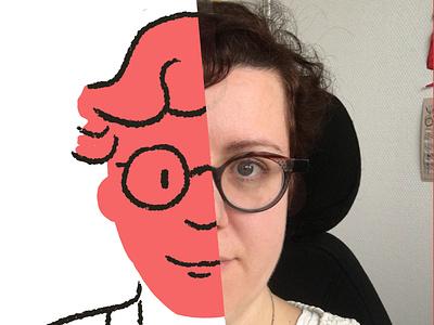 Toon me / nunila drawing wacom selfie portait illustration toonme