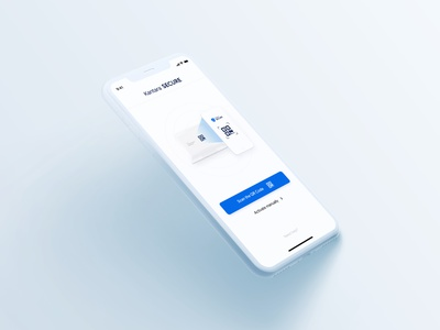 KANTARA™ Secure ( Strong authentication ) userinterface qrcode banking fintech softtoken otp ios app design iphonex iphone ios creative ux design app mobile ui ui ux