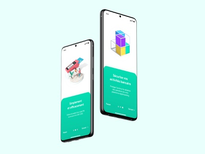 Onboarding - Banking App creative design art 3d android iphone userinterface onboarding design app banking bank ux mobile ui ui ux