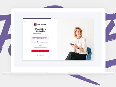 Sign Up Screen - SogeLife web app fintech sogelife sg banking bank otp signin signup