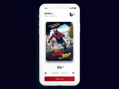 Movie App UI Design app concept ux challenge uidesign movie app movie design mobile ui ux ui ux