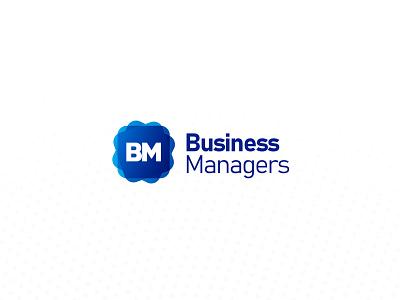 Business Managers Logo algeria graphic  design design vector illustration typography branding logo deisgn logo 2d logo