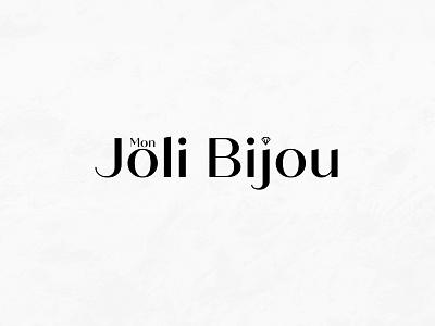 Mon Joli Bijou Logo jewelery creative  design graphic  design typography branding design logo