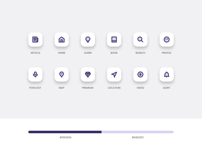 Icon Set ui flat set minimal app icon