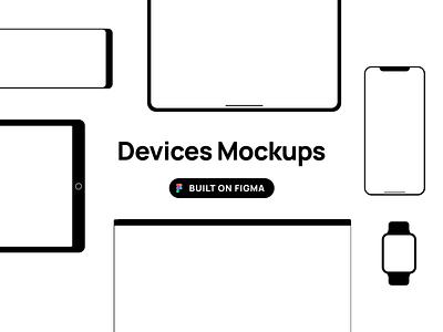 Figma Devices Mockup figma kit freebie kit figma mockup device mockups ui minimal flat design