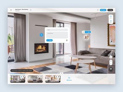 Virtual Tour - Editor product app clean clean ui minimal flat house virtual tour ux ui design