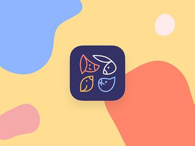 Designflows 2020 – Pet Lover App – Icon designflows minimal flat ui ux pets illustration app icon icon design app icon design