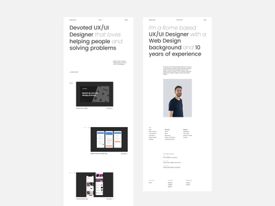 Personal Website Redesign branding flat marketing ux ui typography minimal personal portfolio responsive redesign design