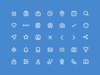 Medical App Icon Set