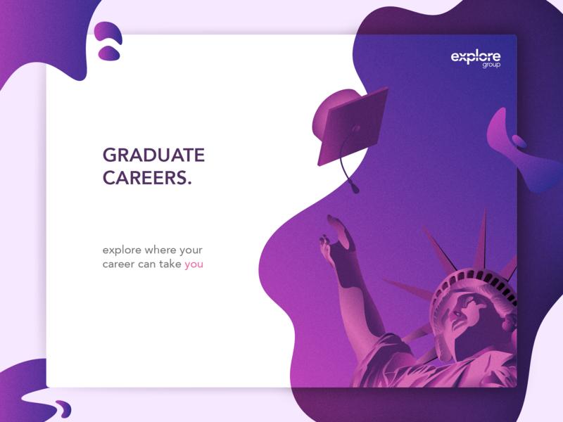 Graduate Careers vector illustration statue of liberty new york