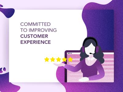 Customer Experience branding vector illustration design