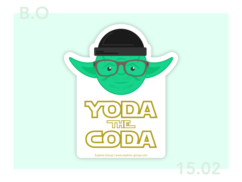 Yoda The Coda typography design sticker vector branding illustration star wars