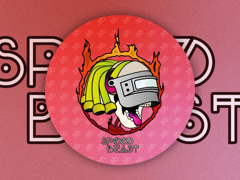 Spooood Beeast branding vector illustration design coaster gaming clan logo overwatch