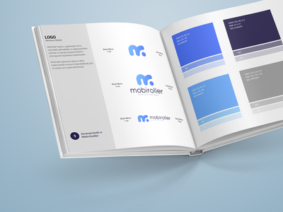 Mobiroller Corporate Identity Guide logo mobiroller guide branding graphic design