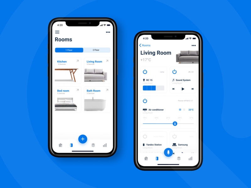 Rooms of smart home app