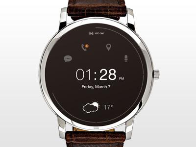 Smart Watch smart watch traditional bluetooth home screen simple minimalistic clock