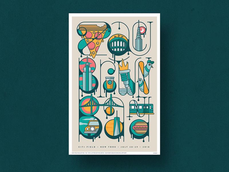 New York Poster music design typography new york merch band poster design zac brown band poster gig poster illustration