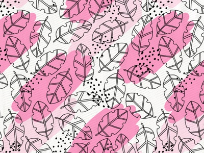 Cute pink tropical pattern