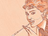 Portrait of Hepburn Audrey