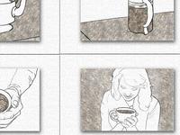 Coffee preparation storyboard