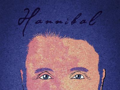 Poster Of Hannibal portrait art poster art poster blue lecter movie movie art hannibal digitalart design portrait wacom tablet artwork photoshop illustration art drawing illustrator illu illustration digital
