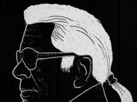 Illustration of Karl Lagerfeld