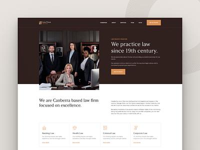 Law Firm - Landing Page brown landingpage landing design colors web ui figma