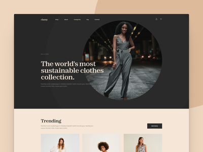Clothing Ecommerce Store Concept colors web elegant figma ui design minimal clean headless pwa shopify store shopify shop ecommerce clothes shop clothing fashion clothes