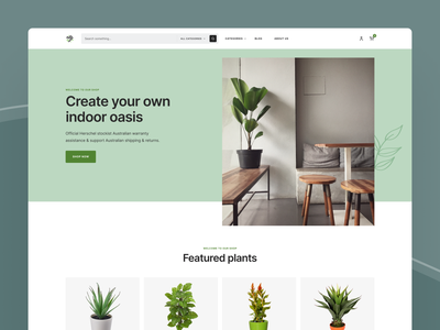 Shopify Ecommerce Store Template pwa store template shopify headless plants shop ecommerce shop green ecommerce colors design web ui figma