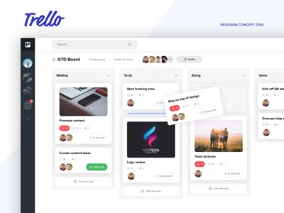 Trello Atlassian - Redesign Concept