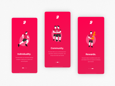 Running App | Illustrative Onboarding Concept