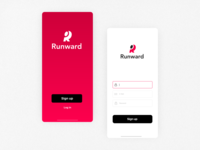 Running App | Sign Up Concept