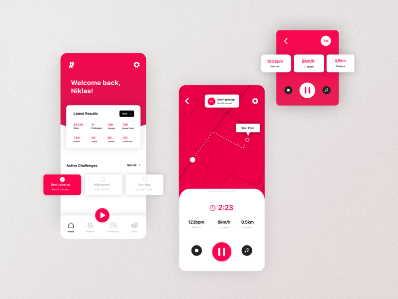 Running App   Home and Running   Mobile and Watch branding design uxdesign ui design concept smartwatch watch mobile dashboard gps tracker map running screen home screen running app app ux ui