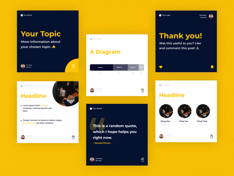 »Instart« Instagram Kit | »Basic Theme« Concept type diagram quote square instagram post instagram orange clean minimalistic branding logo design ux ui