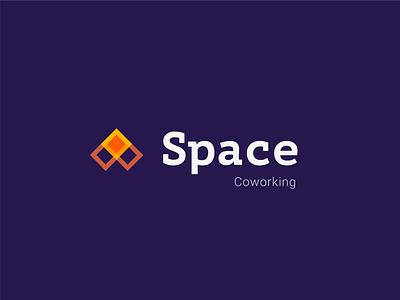 ThirtyLogos #1   Space Coworking blue orange thirty logos 1 coworking thirtylogoschallenge thirtylogos corporate design icon typography branding logo design