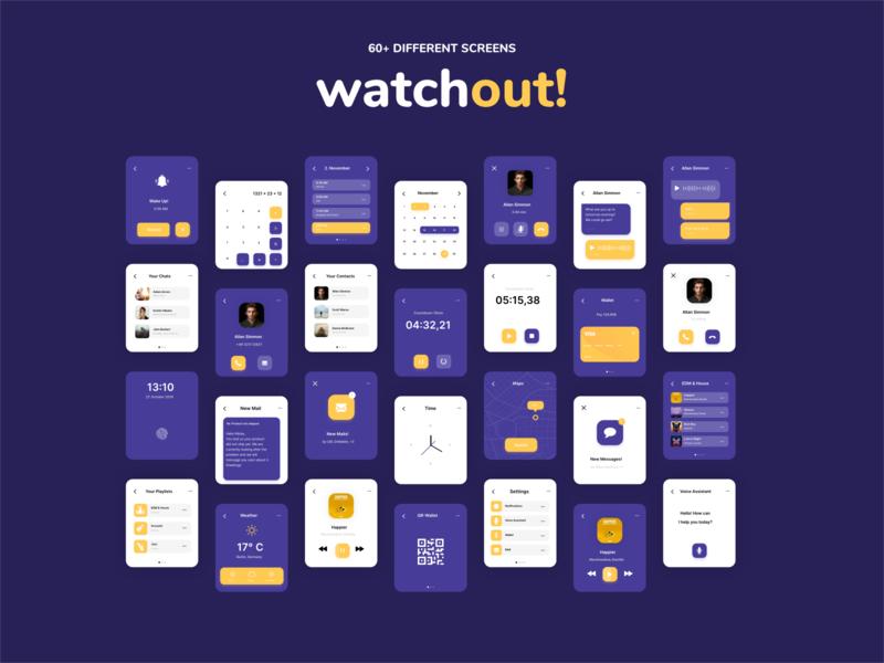 Watchout! Basic Watch UI Kit @UI8!