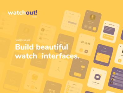 Watchout! Basic Watch UI Kit | 25% DISCOUNT @UI8!