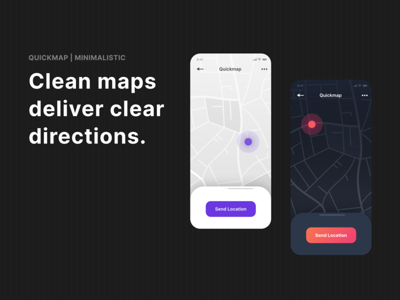 Quickmap | 6 Vector Map Styles @UI8 | Minimalistic Style