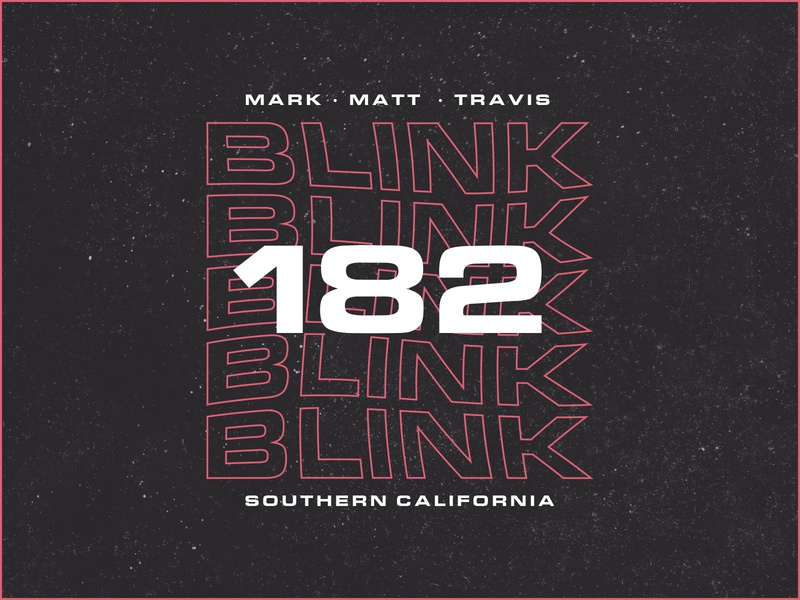 Blink-182 Typographic Experimentation