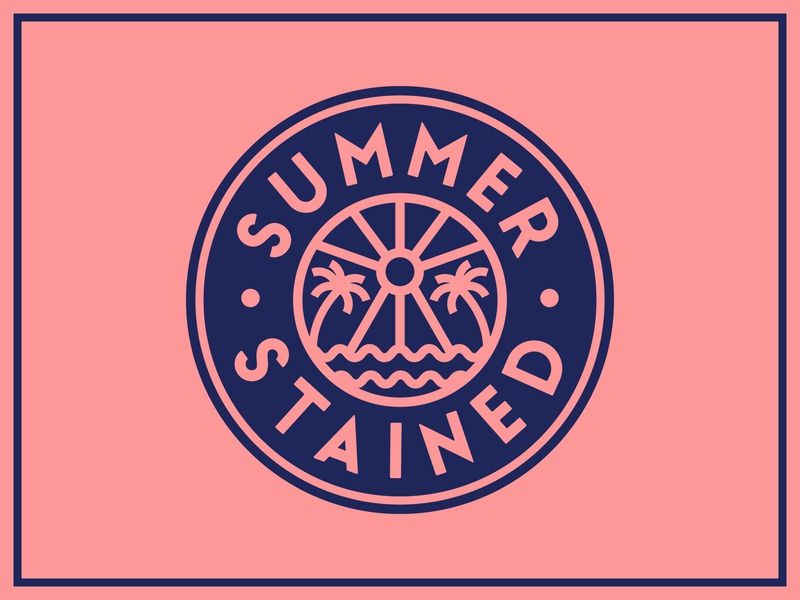 Summer Stained Band Badge ☀️🌴🌊