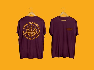 The Dangerous Summer T-shirt branding illustraion illustrator t-shirt illustration t-shirt design native native american print scene tent alternative poppunk punk band thedangerousummer screenprint clothing apparel t-shirt