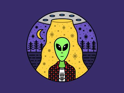 I don't wanna grow up alien 👽🛸✨ moon illustration conspiracy nature illustration cartoon badge nature flying saucers mascot cartoon character cartoon badge space punk descendents ufo aliens