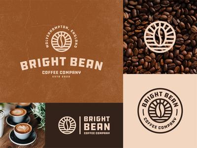 Bright Bean Coffee Company Branding Concept modern bold vintage branding concept branding identity logo badge logo badgedesign badge coffee badge coffeeshop coffee cup bright bean coffee bean coffee