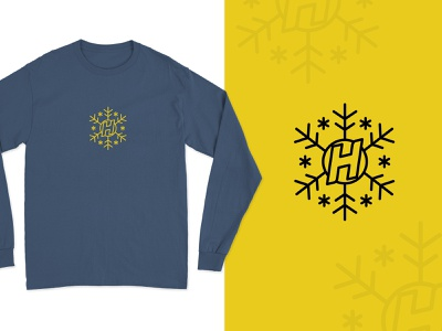 Hopeless Records Christmas Snowflake ❄️ clothing music industry vinyl screen print apparel poppunk punk rock punk label music branding logo snowflakes snowflake the holidays record label christmas