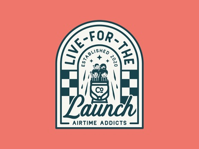 Live For The Launch  🎢 design typography illustration branding typogaphy script vintage rides rollercoaster diner badges vintage badges badge logo vintage badge badgedesign badge theme park