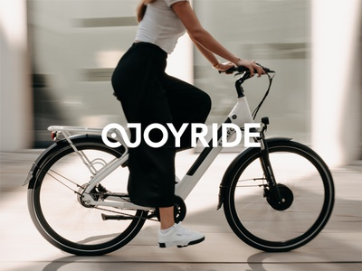 JOYRIDE LOGO 🚴 typographic logo type typogaphy brand design branding design illustration typography branding bike ride bikes logotype combination mark ebike bike branding bike